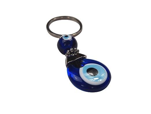 Llavero para mal de ojo turco, color azul.: Amazon.es: Hogar