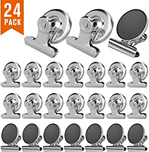 Magnetic Clips 24 Pack, Fridge Refrigerator Magnet Clips for Photo Displays, Whiteboard Magnetic Clips(30Mm Wide)