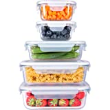 SHOMOTE Glass Food Storage Containers Set with Lids Airtight, BPA-Free Sealable Stackable Clear Portion Control Bowls, Gift K
