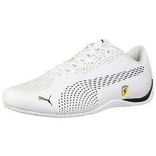 PUMA Ferrari Drift CAT 5 Ultra Sneaker White Black, 6.5 M US