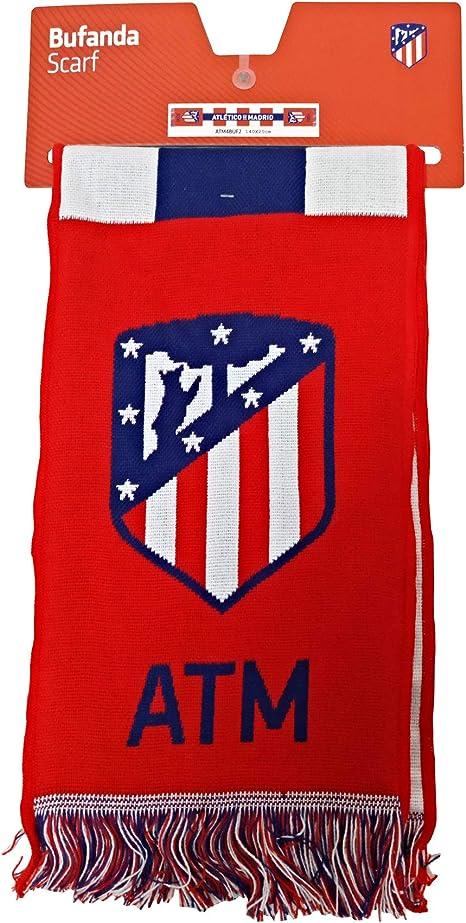 Bufanda Telar Atlético de Madrid Rayas Vertical - Nuevo Escudo ...