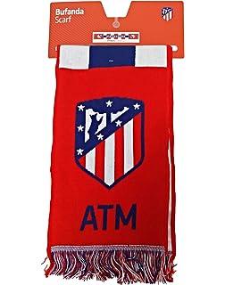 Bufanda Telar Atlético de Madrid - Coraje y Corazón - Nuevo Escudo - Rojo - Blanco - Azul Marino: Amazon.es: Deportes y aire libre