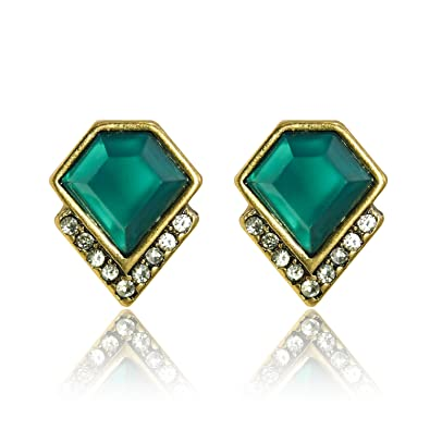 deco diamond ru at earrings stud art