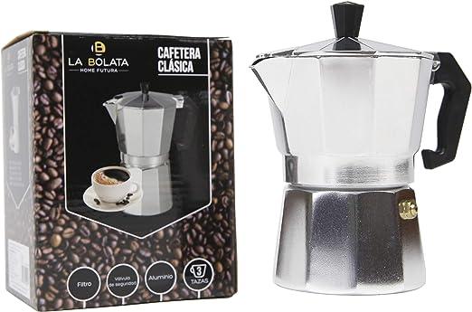Cafetera clásica aluminio 3 Tazas: Amazon.es: Hogar