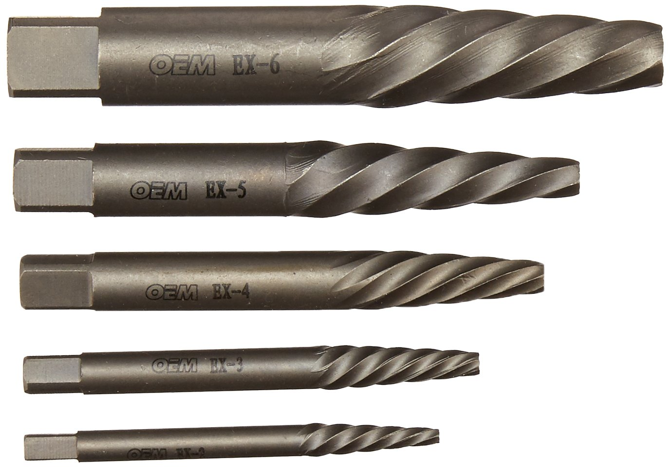 OEMTOOLS 24374 6 Piece Spiral Flute Screw Extractor Set