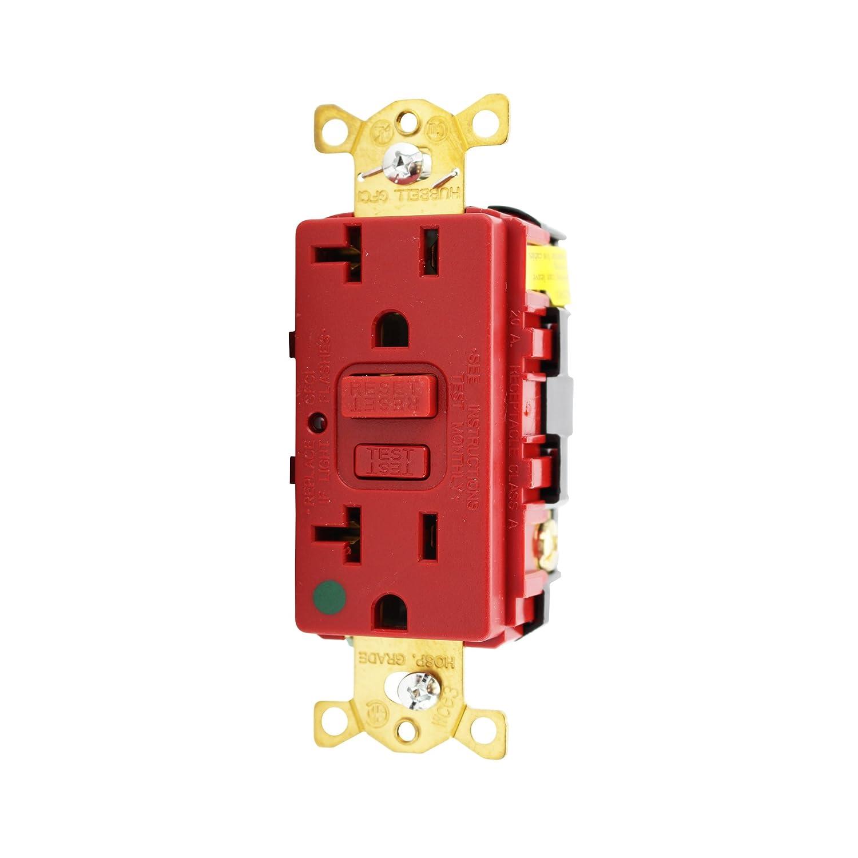 hubbell gfr8300hrla gfci hospital grade receptacle, circuit guardhubbell gfr8300hrla gfci hospital grade receptacle, circuit guard, 20a, 125v, red, outlets \u0026 accessories amazon canada
