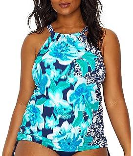 5229339ea1e Caribbean Joe Women s Plus Size Magical Mystery Blouson with Underwire  Tankini.  33.23 -  75.68 · Beach House Plus Size Blair High Neck Tankini Top