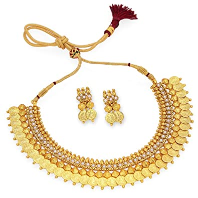 Buy Gemsjewellery South Indian Jewellery Set Astonish Gold