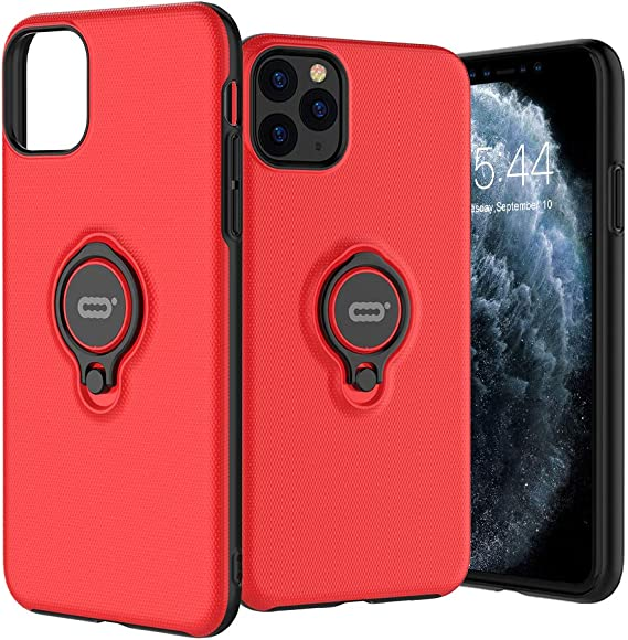 360 Degree Rotating Ring Kickstand Protective Case Magnetic Case Cover for iPhone 11//Pro//Pro Max