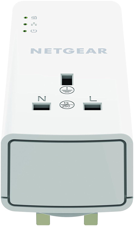 Netgear Plp1200 100uks 1200 Mbps Powerline Ethernet Adapter Homeplug Using For Home Network Media Streaming Pass Through Extra Outlet 1 Gigabit Port Twin Pack