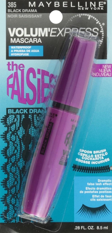 05d7a185066 Amazon.com : Maybelline Volum' Express The Falsies Spoon Brush Waterproof  Mascara, Black Drama [385], 0.28 oz (Pack of 7) : Beauty