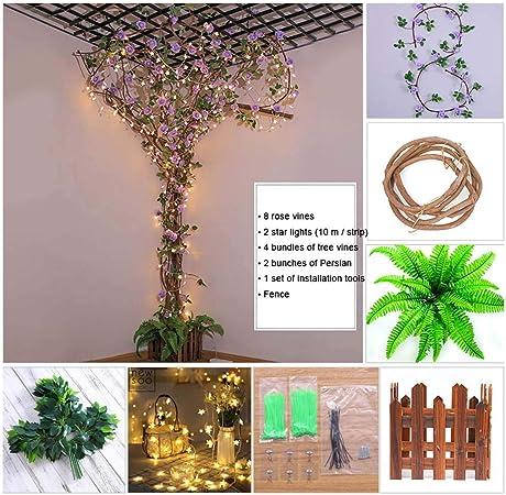 TTIK Arbol Artificial Decoración del Hogar Árboles Falsos Pared del jardín Decoración para su casa: Amazon.es: Hogar