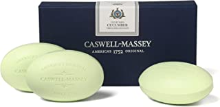 product image for Caswell-Massey Triple Milled Luxury Bath Soap Set, Cucumber and Elderflower, 3 Count per box of 5.8 Ounces Each, 17.4 Ounce