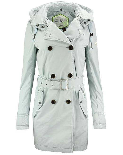 Abrigo corto para mujer Khujo, abrigo de entretiempo: Amazon.es: Ropa y accesorios