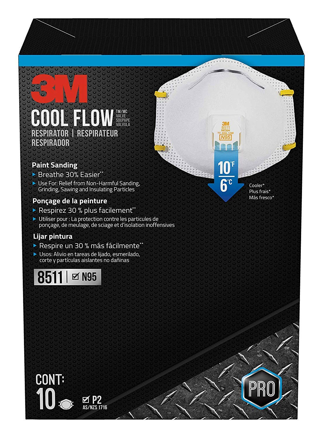 3M 8511PB1-A-PS Particulate N95 Respirator with Valve, 18-Pack by 3M Safety...x (Image #5)