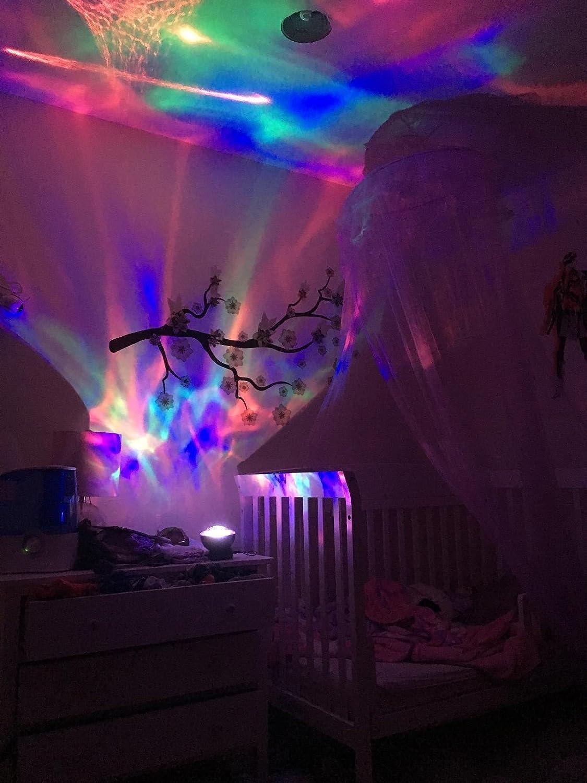 SOAIY Lampe dAmbiance LED Multicolore Lampe de Nuit avec Projection 4 Minuteries /& 3 Niveaux de Luminosit/é avec T/él/écommande Noire