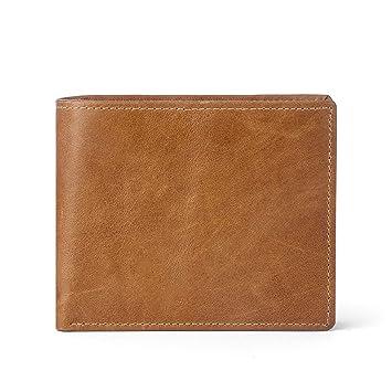 9b86b81d2bc07 WinCret Vintage Geldbeutel Männer Leder - Klassische Geldbörse Herren im  Querformat mit Münzfach und RFID Schutz