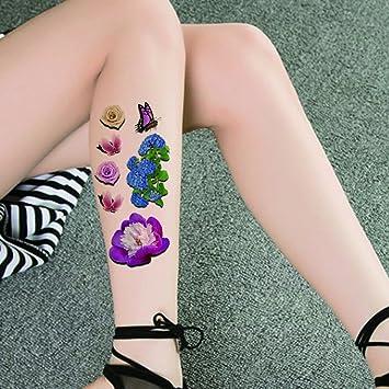 TAFLY Sexy 3d Colorful impermeable tatuaje pegatinas mariposa flor ...