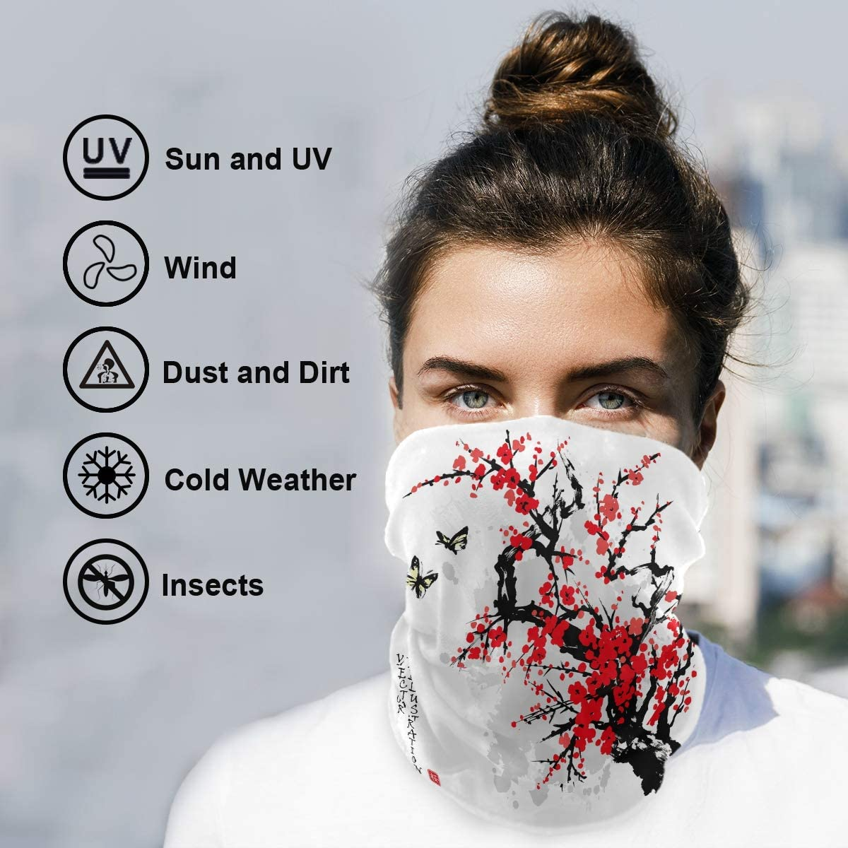 Summer Protection UV Visage Housse Visage Écharpe Moto Bandana Sport coiffure