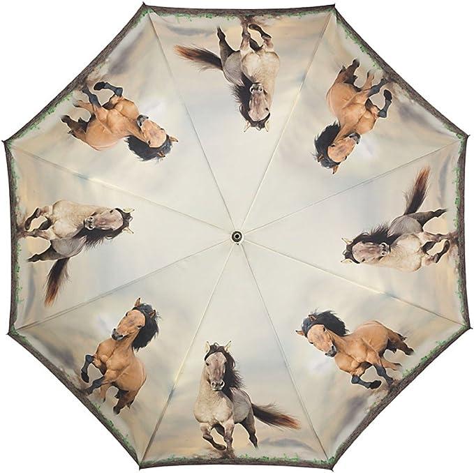 VON LILIENFELD/® Parapluie Automatique Femme Homme Chevaux Sauvages