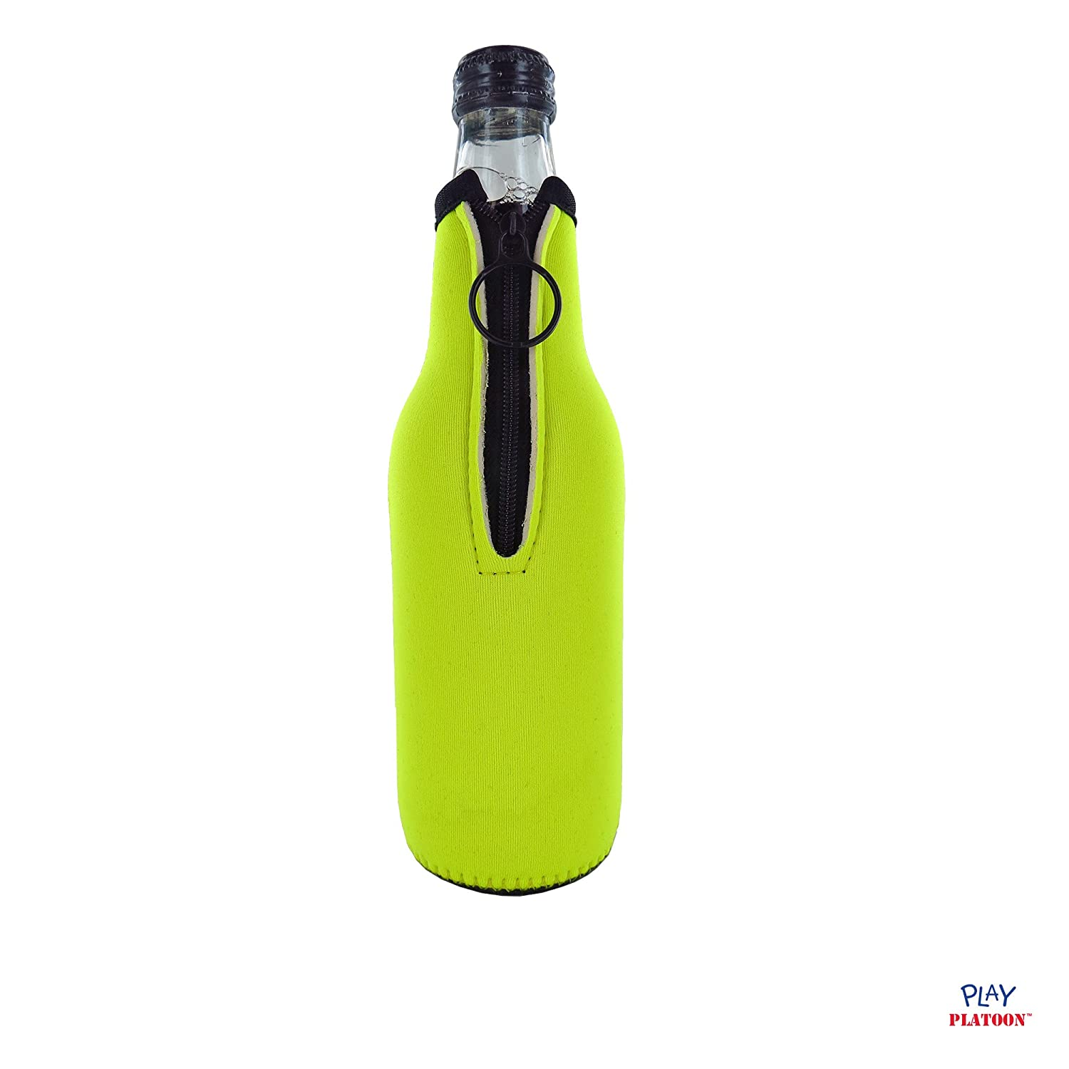 Collapsible Neoprene Sleeve with Zipper Beer Bottle Cooler Sleeves for Party