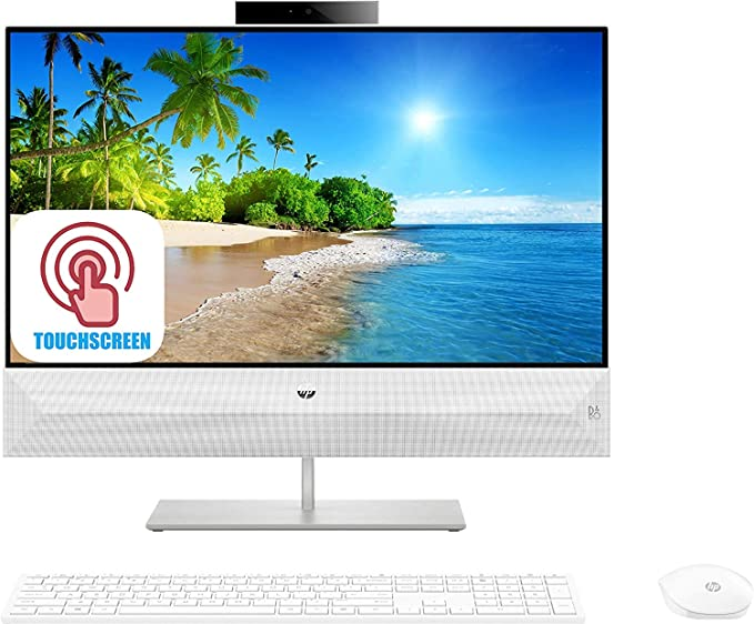 """Latest HP Pavilion All-in-One Desktop Computer, 23.8"""" FHD IPS Touchscreen, Intel 6-Core i5-8400T Up to 3.3 GHz 20GB RAM 2TB PCIe SSD WiFi Webcam Bluetooth Type-C Wireless KB& Mouse Win 10   Amazon"""