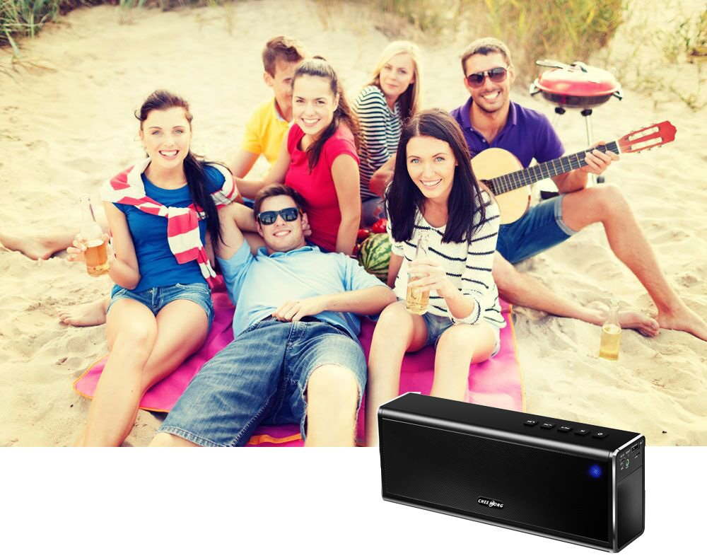20w Handsfree Wireless Speaker - Portable Outdoor Bluetooth Speaker Super Bass - Power Stereo Sound USB Rechargeable Speaker Built-in Mic, Best for Home, Beach, Party, Travel by CHEE MONG (Image #6)