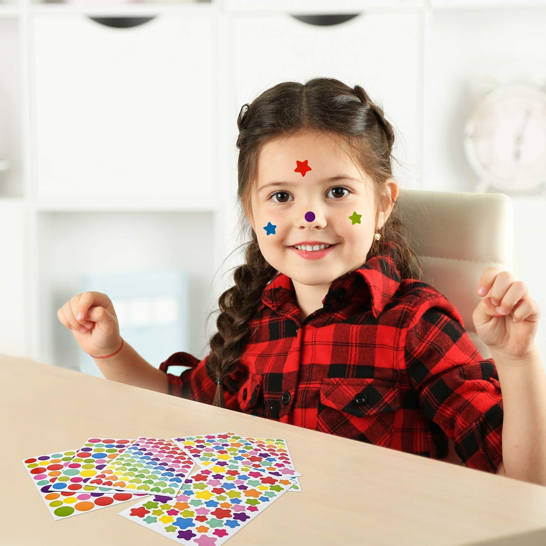 Adesivi Ricompensa 36 Pezzi Multicolore Colorati Sticker Genitore Insegnante Lode Jrancc Etichette Adesive Stelle