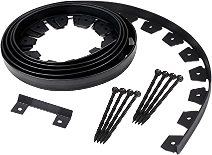 Easyflex 3100 20c 6 Heavy Duty Dig Landscape Edging Kit 20 Feet Black Garden Outdoor