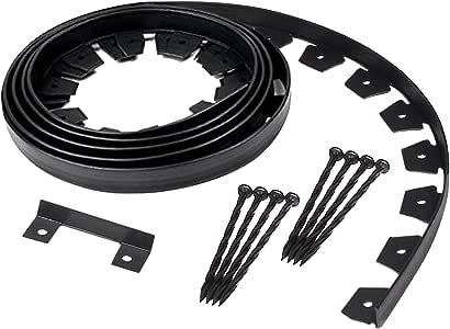 EasyFlex 3100-20C-6 Heavy-Duty Dig Landscape Edging Kit, 20-Feet, Black