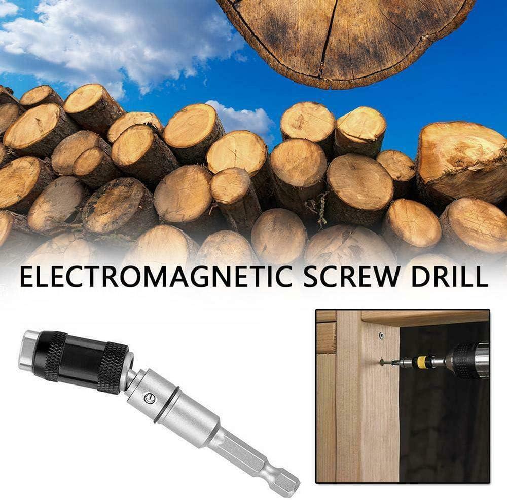 Schnellwechsel Magnetisch schwenkbarer Bitspitzenhalter Schwenkschraube Bohrspitzenverriegelungsbithalter LuShuMaDa 1//4Schlagfester Bithalter 20 /° Schwenkmodus