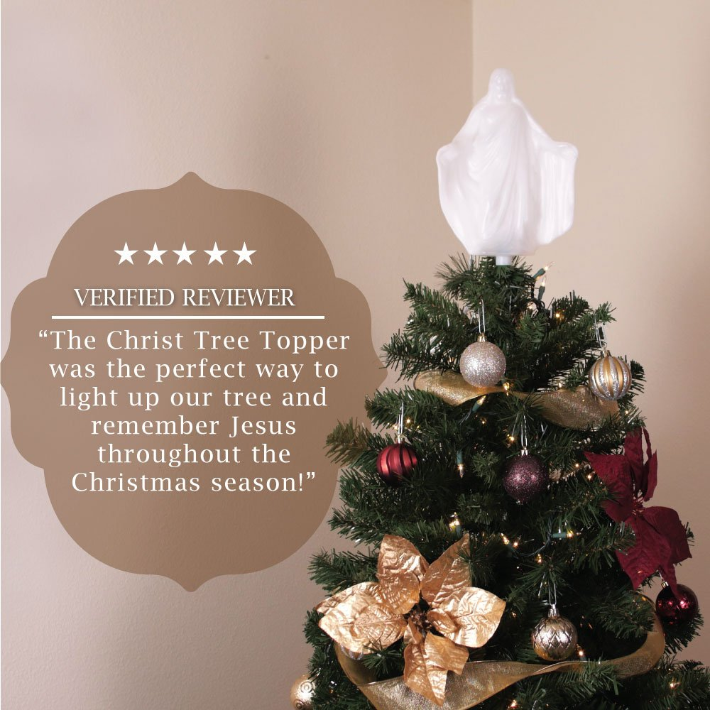Amazon.com: Christmas Tree Ornament - Christ Tree Topper - 10 in ...