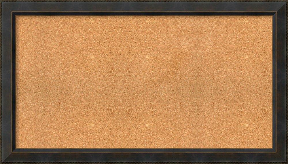 Amanti Art Signore Bronze, Choose Your Custom Size Framed Cork Board 47 x 27