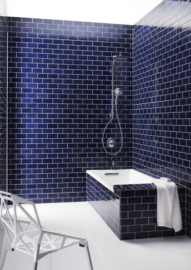 Premium Quality Cobalt Blue 3x6 Glass Subway Tile for Bathroom Walls, Kitchen Backsplashes By Vogue Tile