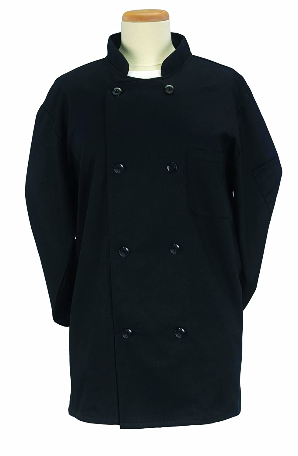 Ritz 70033 Pro Series Large Chef's Jacket, Black
