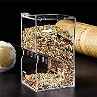 starter Comedero para Mascotas Acrílico Transparente Acrílico Hamster Alimentador automático Plato para Alimentos Adecuado para Mascotas pequeñas como Hamsters, Erizos, Conejos