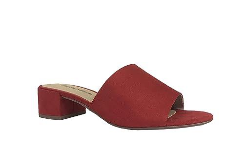 80f61a35176ad City Classified Comfort Watson! Women n Open Toe Chunky Heel Slide Sandals