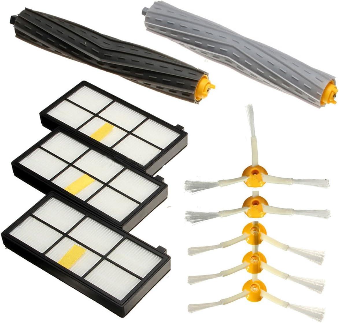 zuolan grande Cepillos y kit de mantenimiento Kit de repuestos para iRobot Roomba filtro de 800 870 880 980: Amazon.es: Hogar