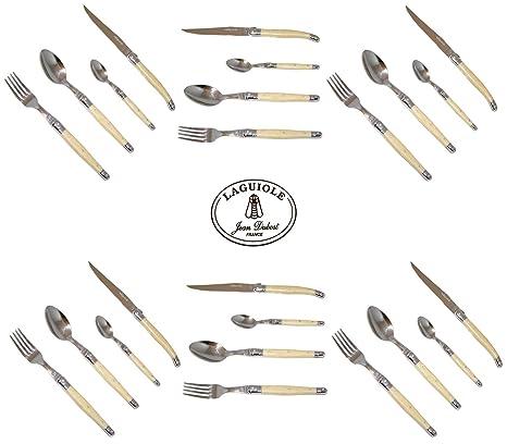 Laguiole - Cubertería (24 piezas, acero inoxidable 15/10, para 6 comensales