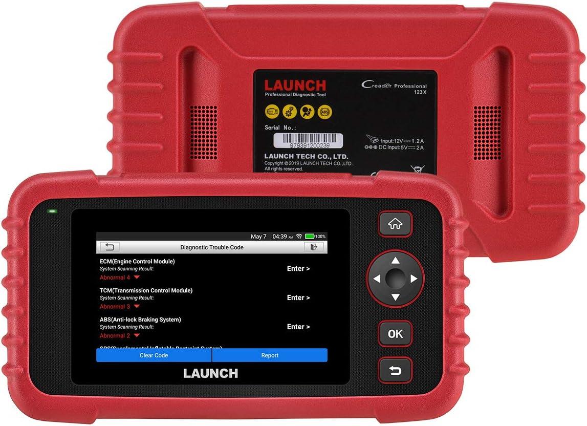 LAUNCH CRP123X Herramienta Diagnosis Profesional OBD con Detección AutoVIN para Sistemas Motor Transmisión ABS SRS Airbag con Actualizaciones por Wi-Fi Incorporada en Español (Nuevo CRP123)