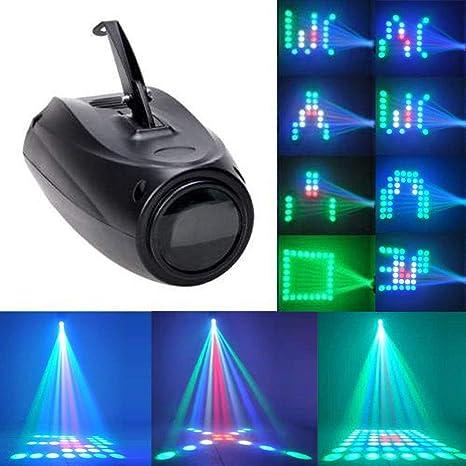 UKing Etapa Lámpara RGBW 64 Led Proyector de Imagen Pequeña Luces del Dirigible Control de Voz Efecto de Iluminación para Fiesta de Aniversario Disco ...