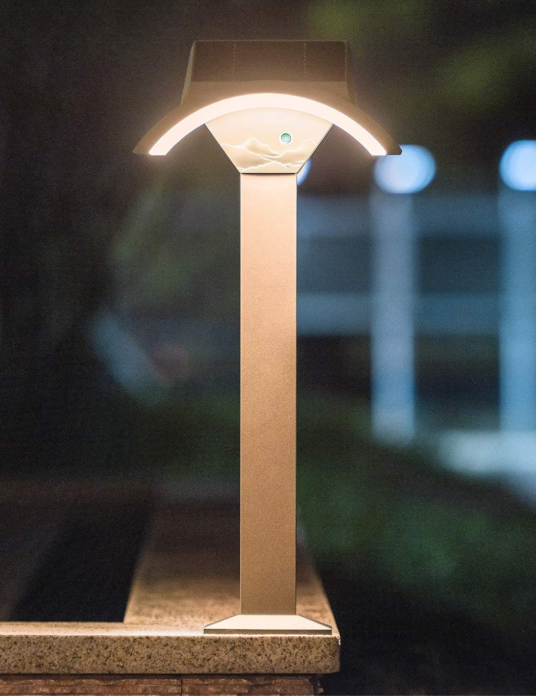 Solar Post Light Outdoor, Solar Lamp Post Light, Warm White LED Lighting for Fence Deck Garden Porch Patio Path Large