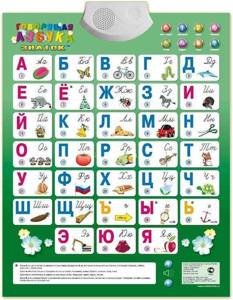 ABС alfabeto interattivo poster educativo e ludico con suoni per principianti della lingua russo