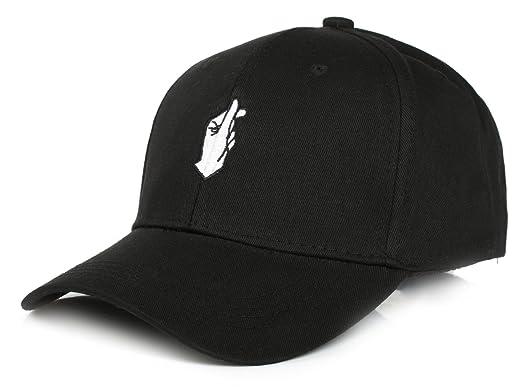 a707a71416e Tuopuda Unisex Fashion Baseball Cap Love Finger Snap Print Sports Hat  (Black)
