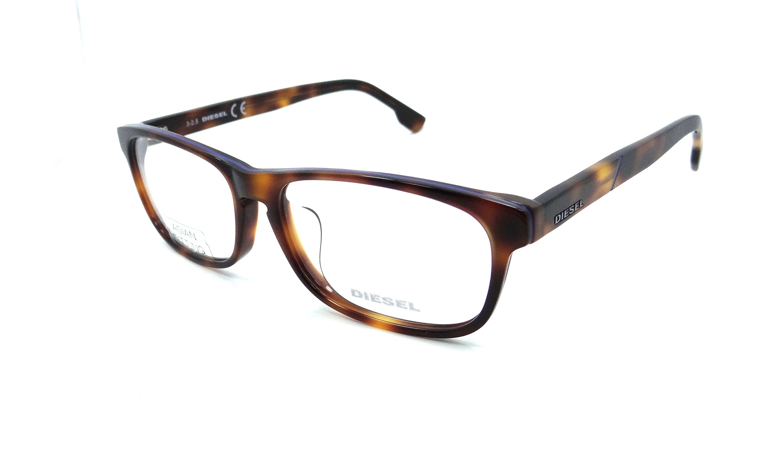Diesel Rx Eyeglasses Frames DL5197-F 053 56-15-145 Havana Asian Fit