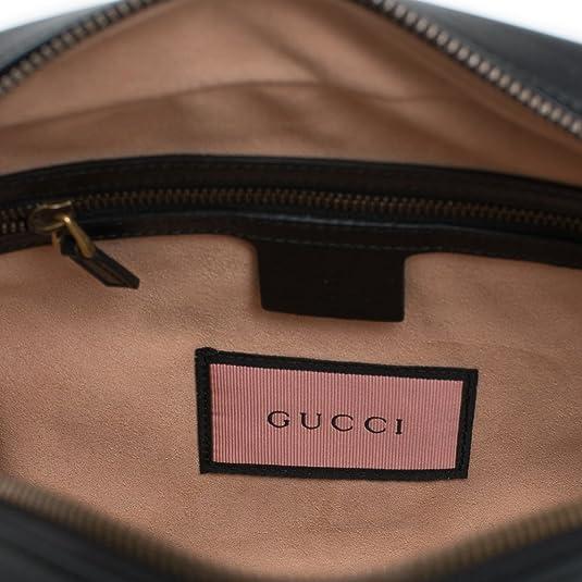 3565ae33fdc Amazon.com  Gucci Ghost GG Marmont Black Graffiti Leather Shoulder Bag  Handbag Italy New 1  Shoes