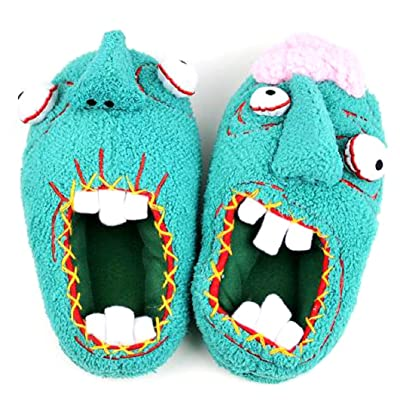 OEM Paranorman Slippers Plushie Norman Bathroom Shoes Zombie Footwear, Green, One Size: Clothing
