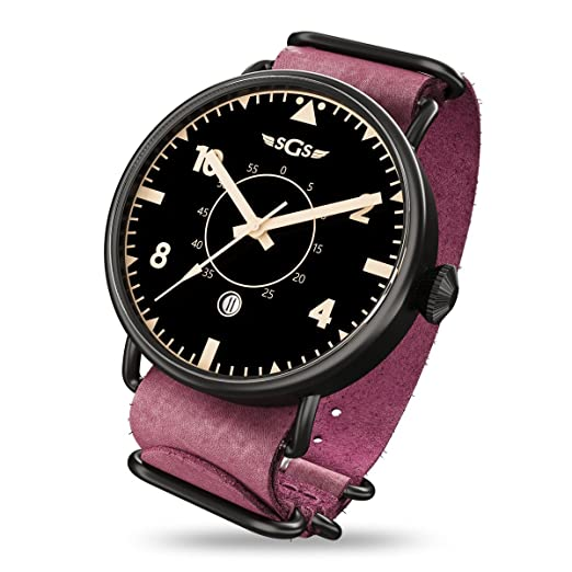 SGS Eagle ABTR - Reloj piloto de cristal de zafiro automático para hombre