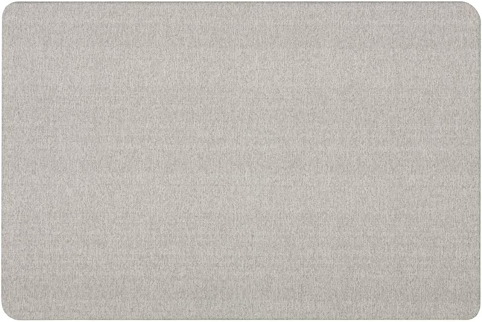 Quartet Bulletin Board for Walls, Fabric, 3' x 2', Frameless Pin Board, Fiberboard, Display Board, Oval Office, Home Office Decor or Home School Organization Board, Vertical/Horizontal, Gray (7683G)