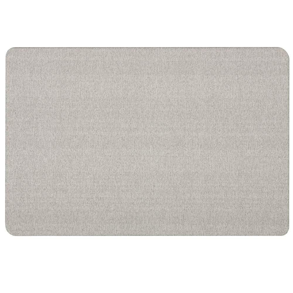 Quartet Bulletin Board, Fabric, 3' x 2', Frameless, Fiberboard, Oval Office, Black (7683BK)